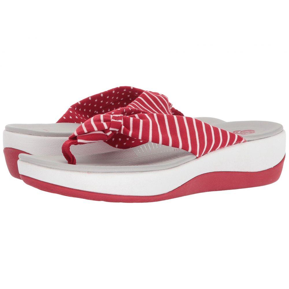 クラークス Clarks レディース ビーチサンダル シューズ・靴【Arla Glison】Red Printed Fabric