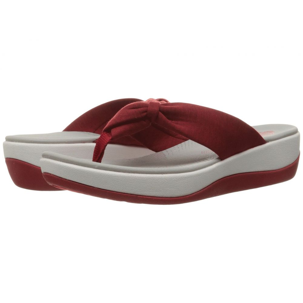 クラークス Clarks レディース ビーチサンダル シューズ・靴【Arla Glison】Red Heather Fabric