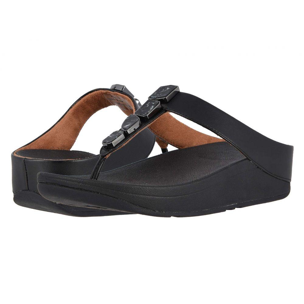 フィットフロップ FitFlop レディース ビーチサンダル シューズ・靴【Fino Shellstone】Black