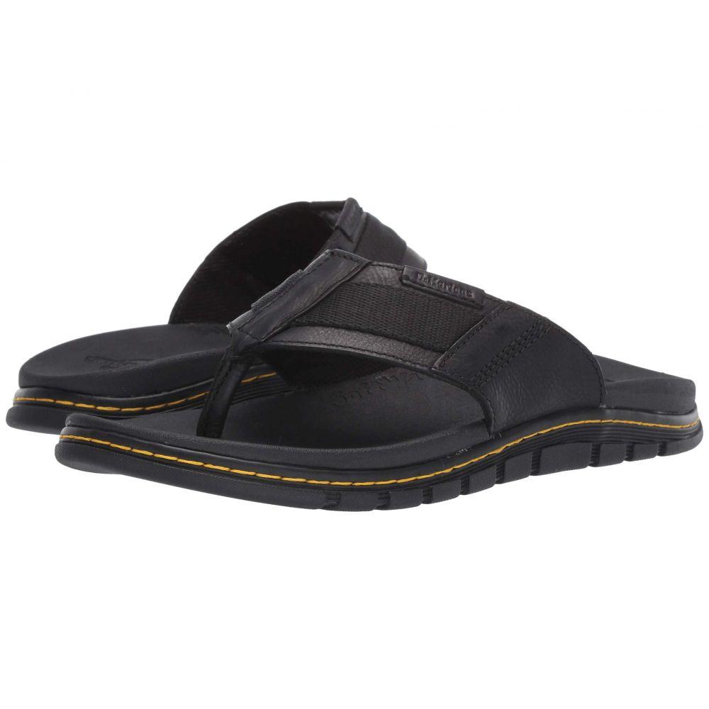 ドクターマーチン Dr. Martens レディース ビーチサンダル シューズ・靴【Athens Thong】Black Carpathian/Webbing