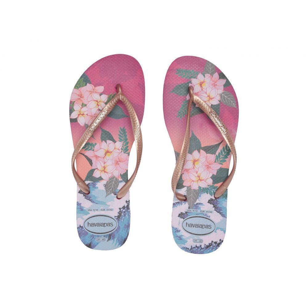 ハワイアナス Havaianas レディース ビーチサンダル シューズ・靴【Slim Tropical Sunset】Hollywood Rose
