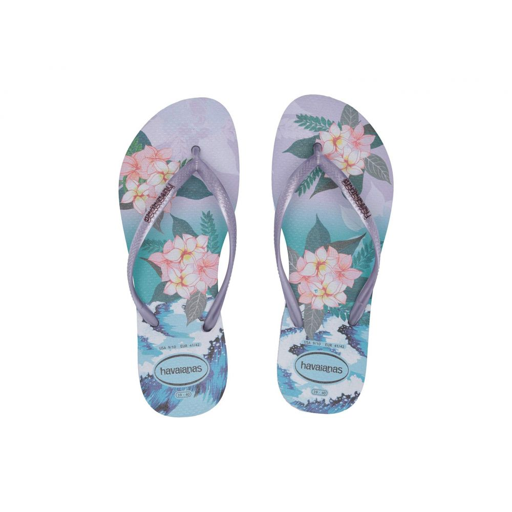 ハワイアナス Havaianas レディース ビーチサンダル シューズ・靴【Slim Tropical Sunset】Lavender