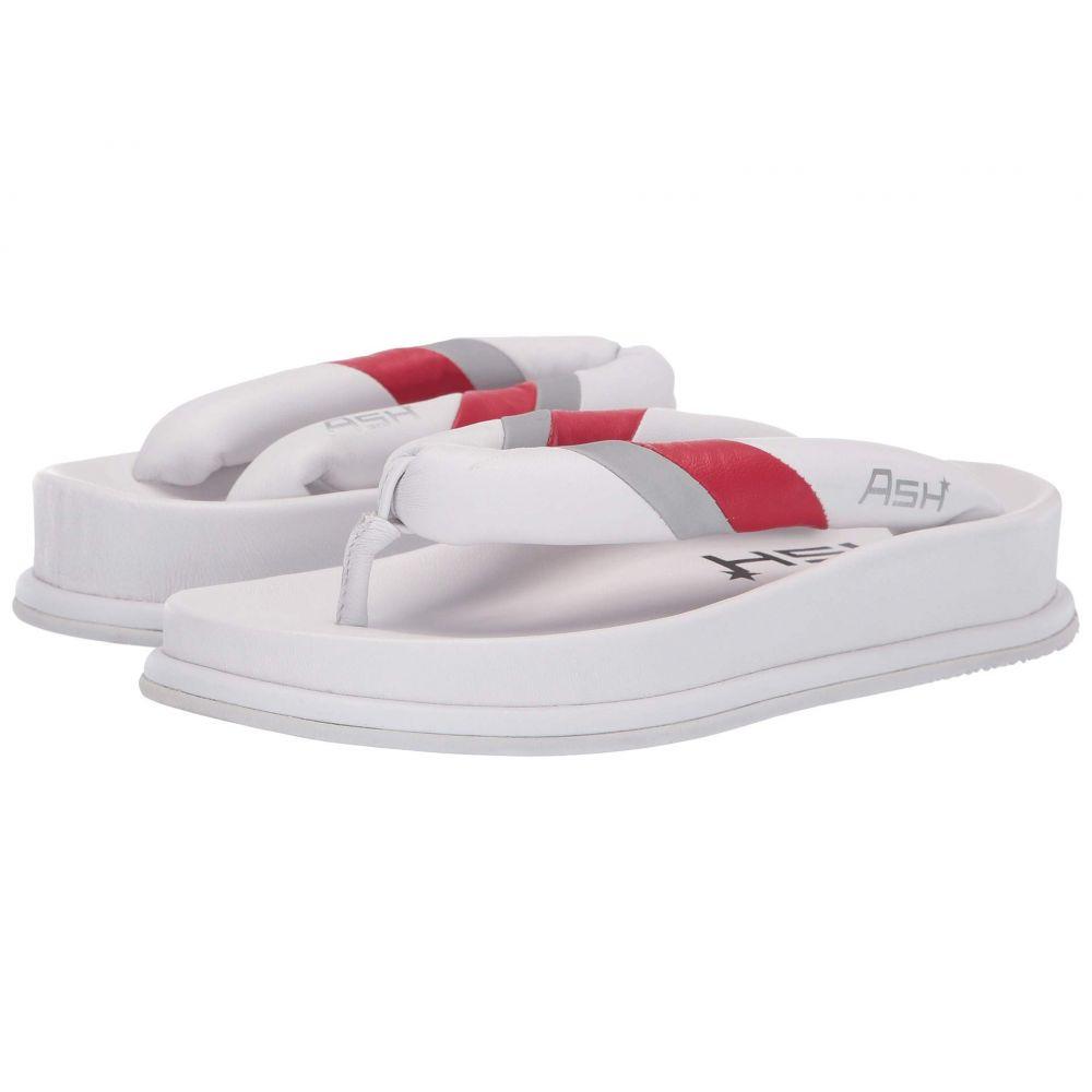 アッシュ ASH レディース ビーチサンダル シューズ・靴【Tonic】Glove White/Glove Lipstick/Reflex Silver
