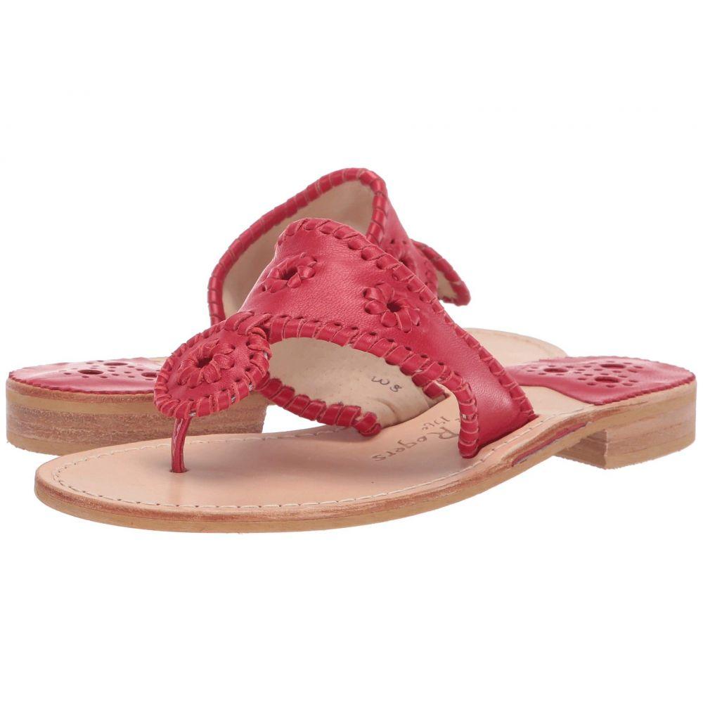 ジャックロジャース Jack Rogers レディース ビーチサンダル フラット シューズ・靴【Jacks Flat Sandal】Red