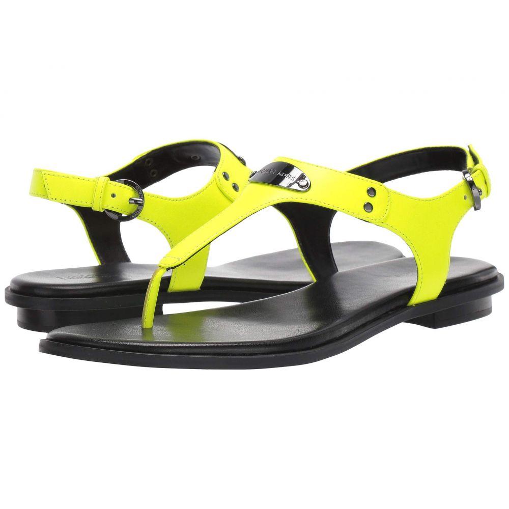 マイケル コース MICHAEL Michael Kors レディース サンダル・ミュール シューズ・靴【MK Plate Thong】Neon Yellow