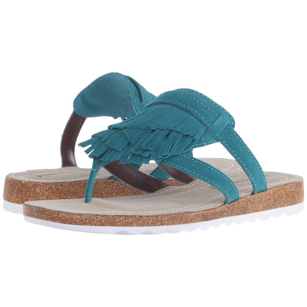ハッシュパピー Hush Puppies レディース ビーチサンダル シューズ・靴【Bryson Jade】Turquoise Suede