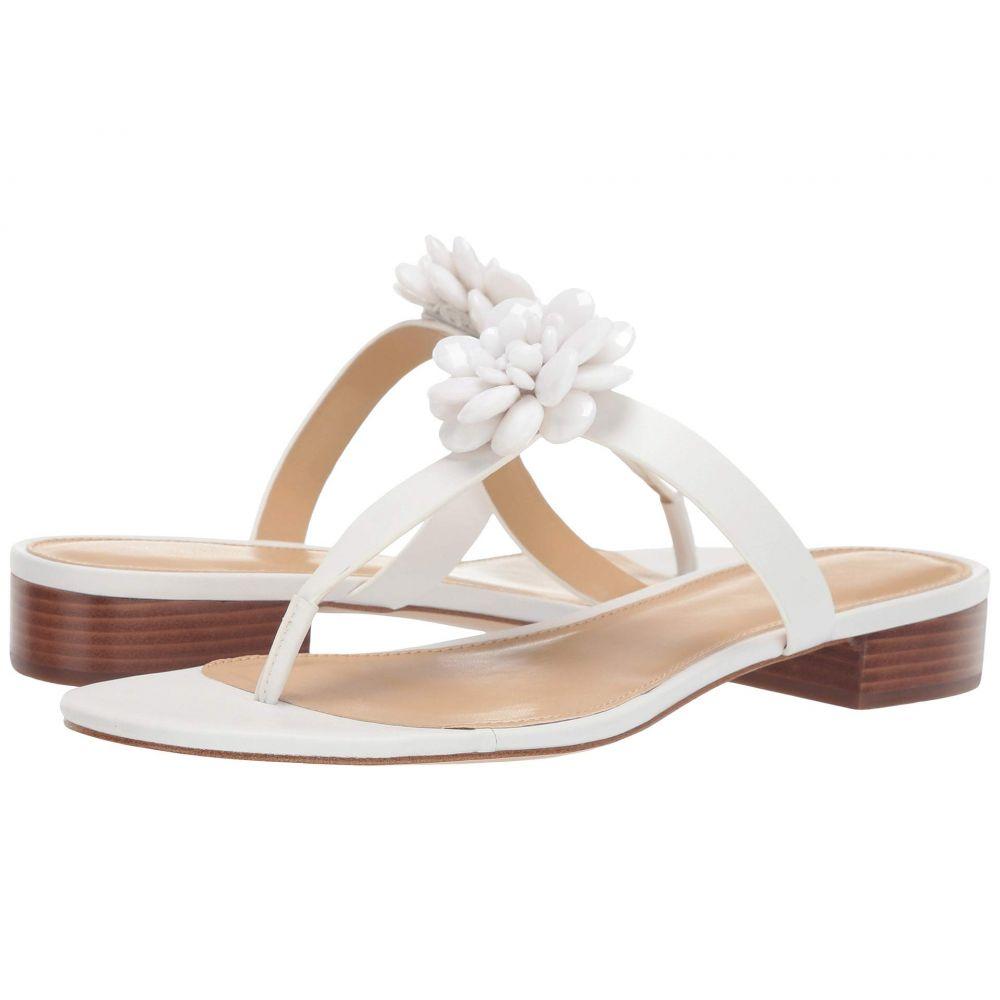 マイケル コース MICHAEL Michael Kors レディース サンダル・ミュール フラット シューズ・靴【Dalia Flat Sandal】Optic White