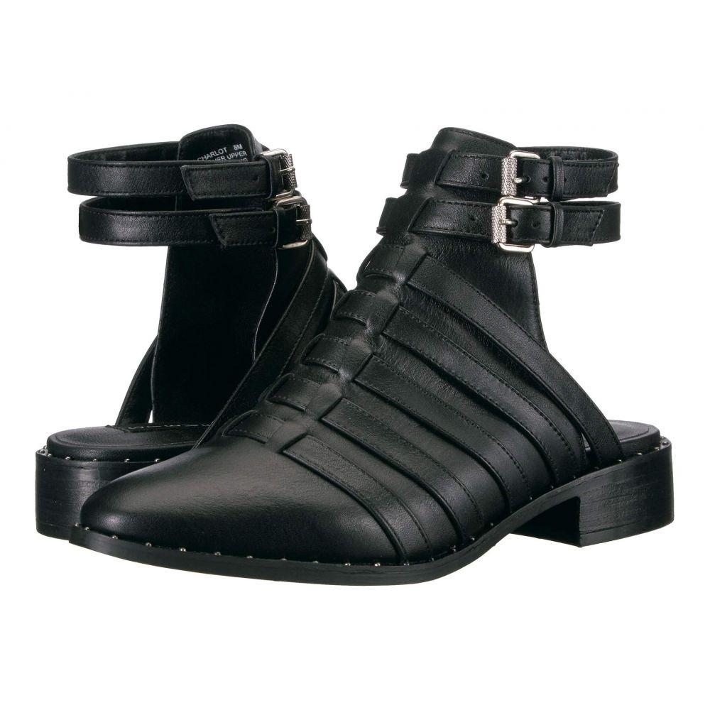 スティーブン Steven レディース サンダル・ミュール シューズ・靴【Charlot】Black Leather
