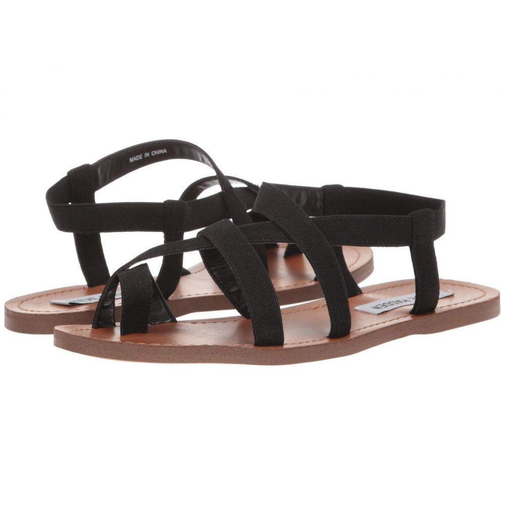 スティーブ マデン Steve Madden レディース サンダル・ミュール フラット シューズ・靴【Flexie Flat Sandal】Black