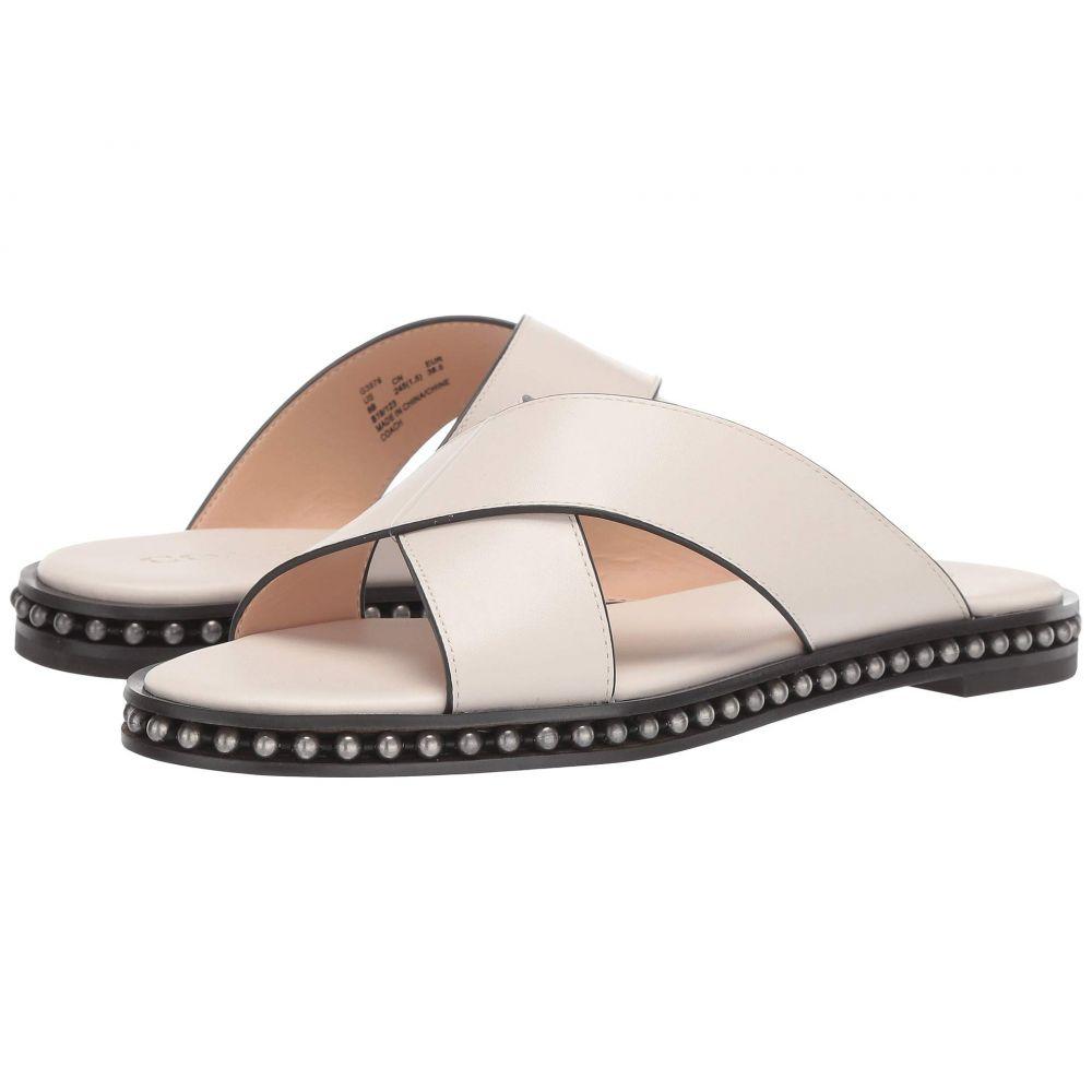 コーチ COACH レディース サンダル・ミュール シューズ・靴【Hailey Beadchain Flat Slide】Chalk Leather