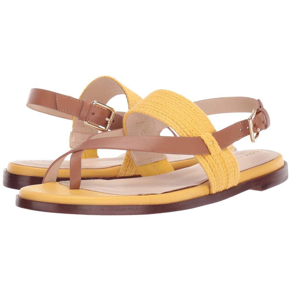 コールハーン Cole Haan レディース サンダル・ミュール トングサンダル シューズ・靴【Anica Thong Sandal】Bright Yellow/Pecan