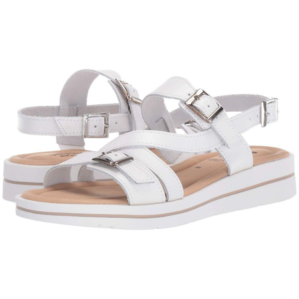 スプリングステップ Spring Step レディース サンダル・ミュール シューズ・靴【Salicaria】White