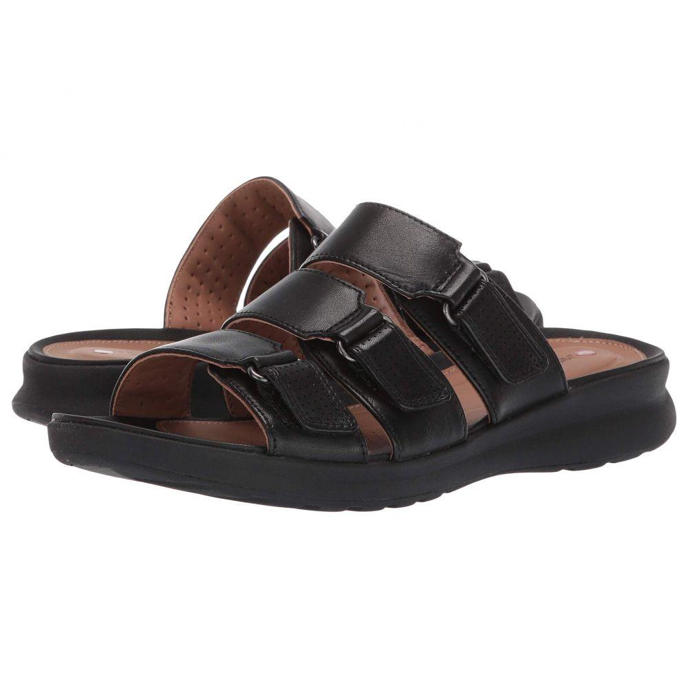 クラークス Clarks レディース サンダル・ミュール シューズ・靴【Un Adorn Lane】Black Leather