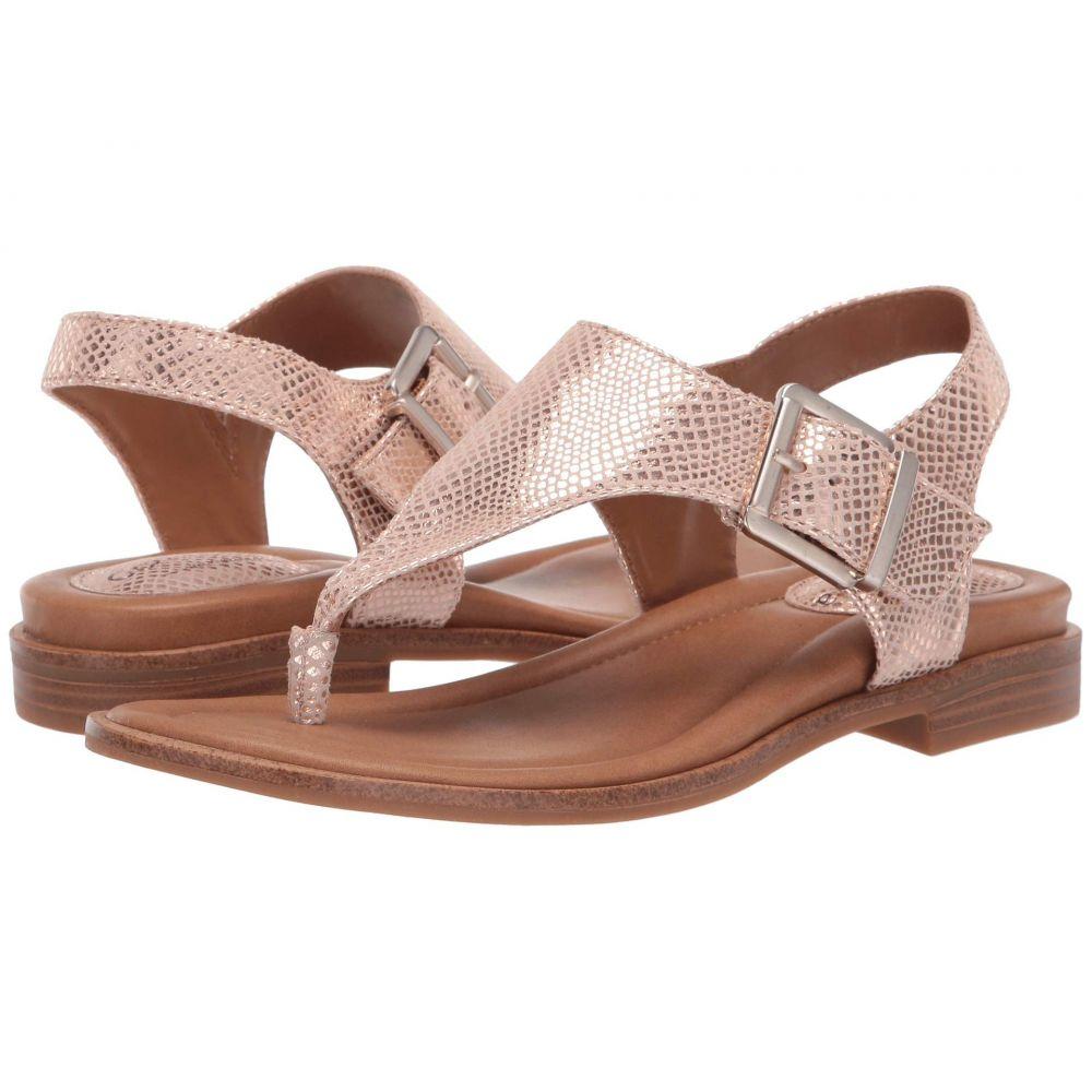 コンフォーティヴァ Comfortiva レディース サンダル・ミュール シューズ・靴【Dafney】Rose Gold Panama Metallic