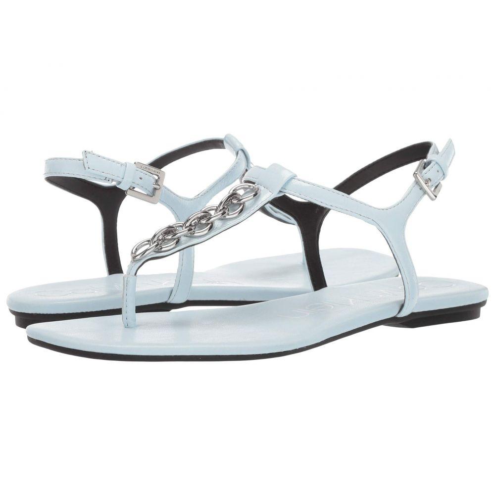 カルバンクライン Calvin Klein レディース サンダル・ミュール シューズ・靴【Silva】Pale Blue Paper Patent