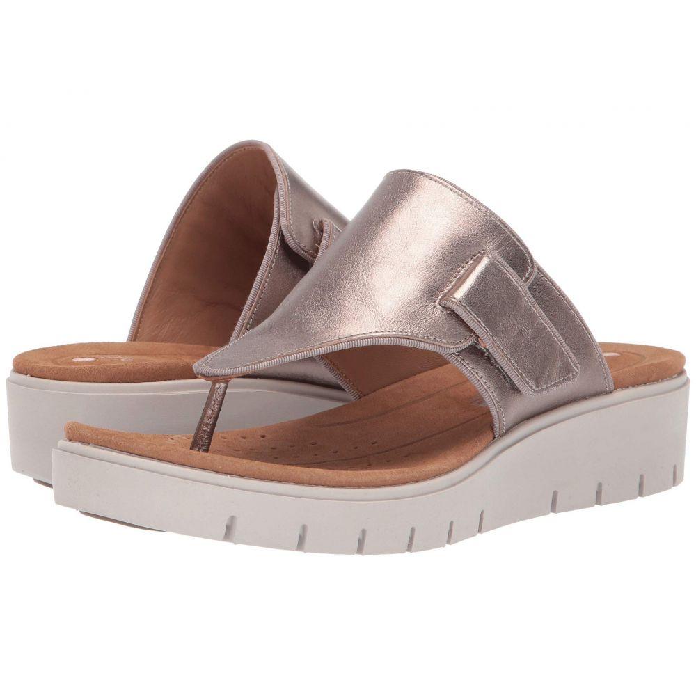 クラークス Clarks レディース サンダル・ミュール シューズ・靴【Un Karely Sea】Gold Metallic Leather