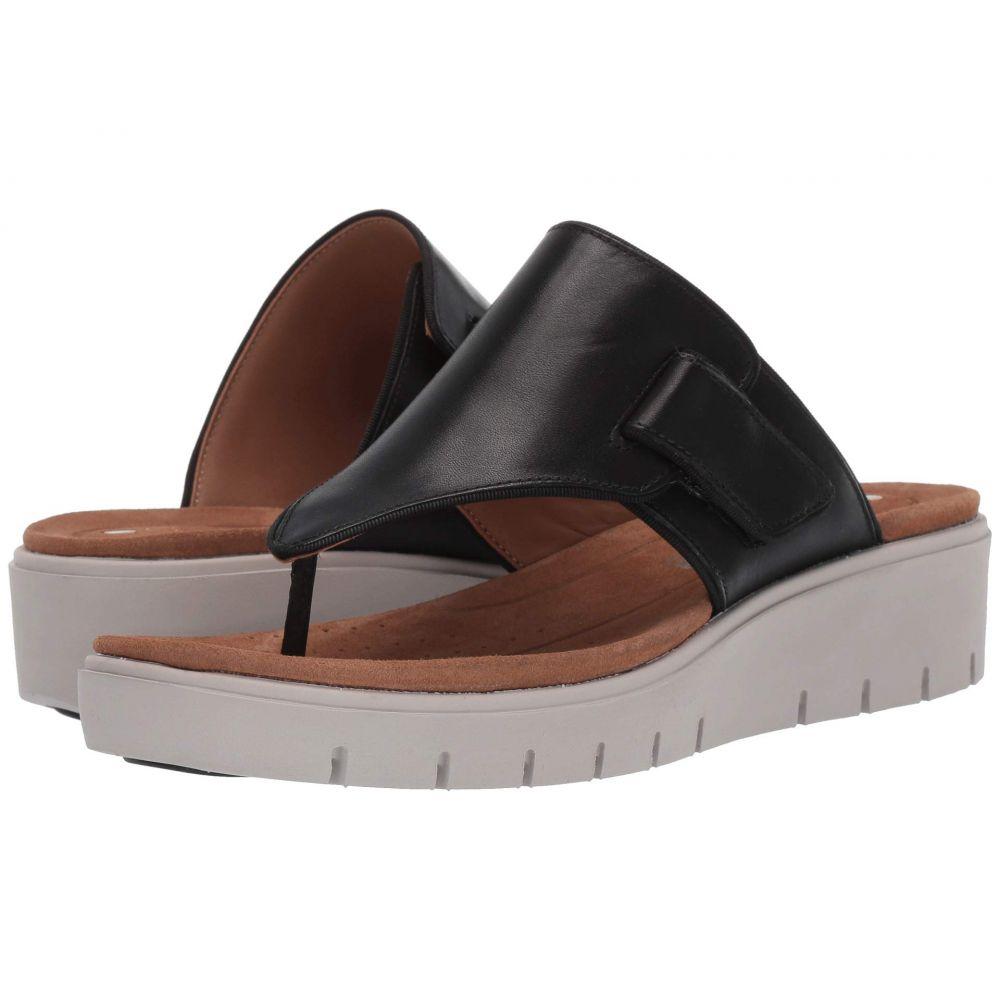 クラークス Clarks レディース サンダル・ミュール シューズ・靴【Un Karely Sea】Black Leather
