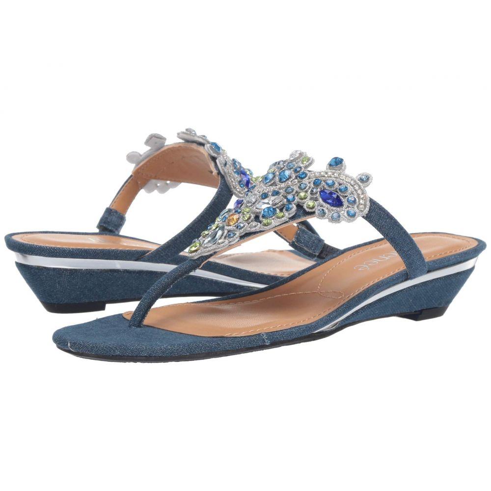 ジェイレニー J. Renee レディース サンダル・ミュール シューズ・靴【Marsiella】Blue/Silver Denim