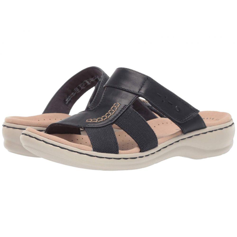 クラークス Clarks レディース サンダル・ミュール シューズ・靴【Leisa Emily】Navy Leather/Textile Combo