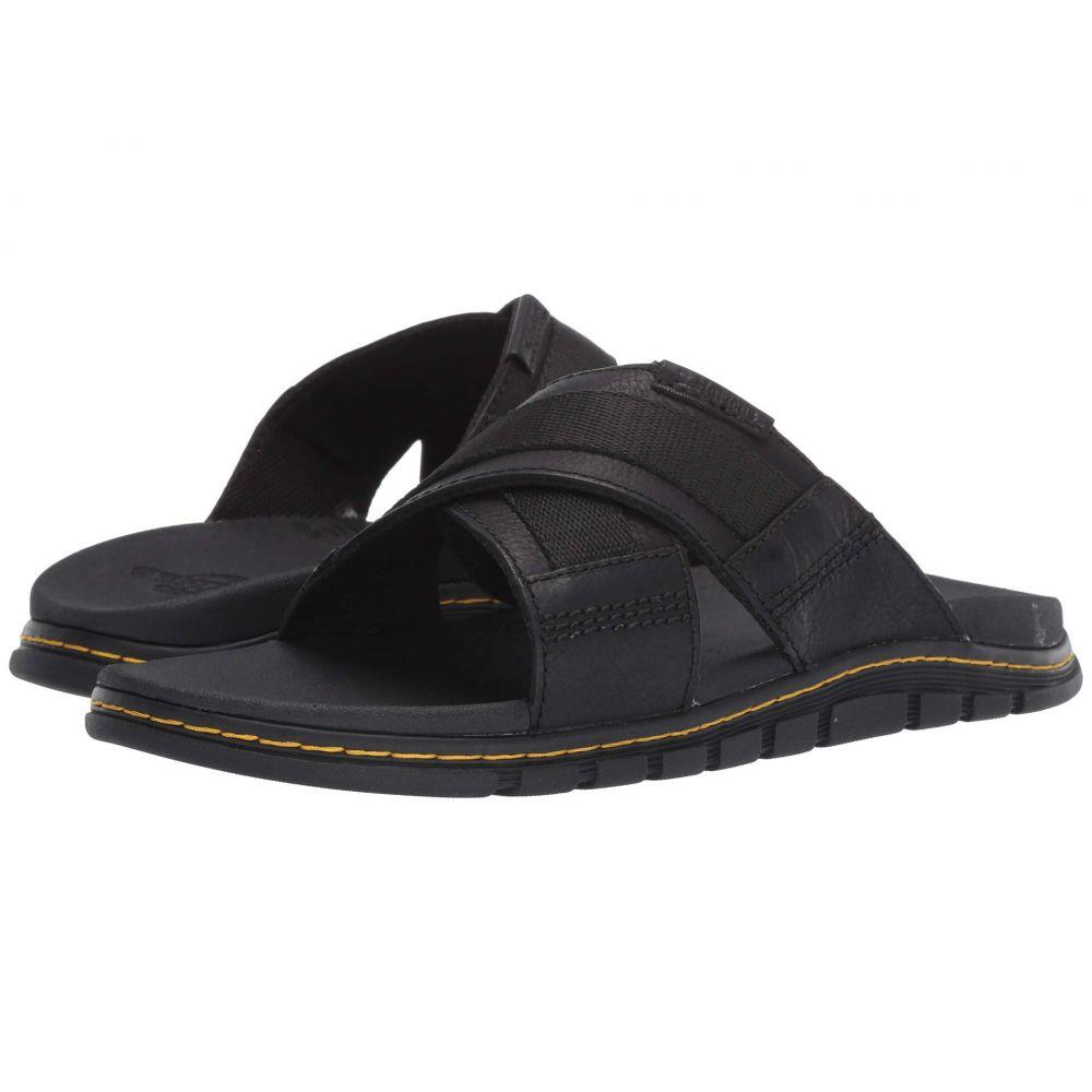 ドクターマーチン Dr. Martens レディース サンダル・ミュール シューズ・靴【Athens Slide】Black Carpathian/Webbing