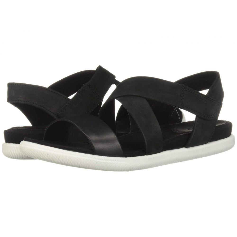 エコー ECCO レディース サンダル・ミュール シューズ・靴【Damara Strap Sandal】Black/Black Cow Leather/Cow Nubuck