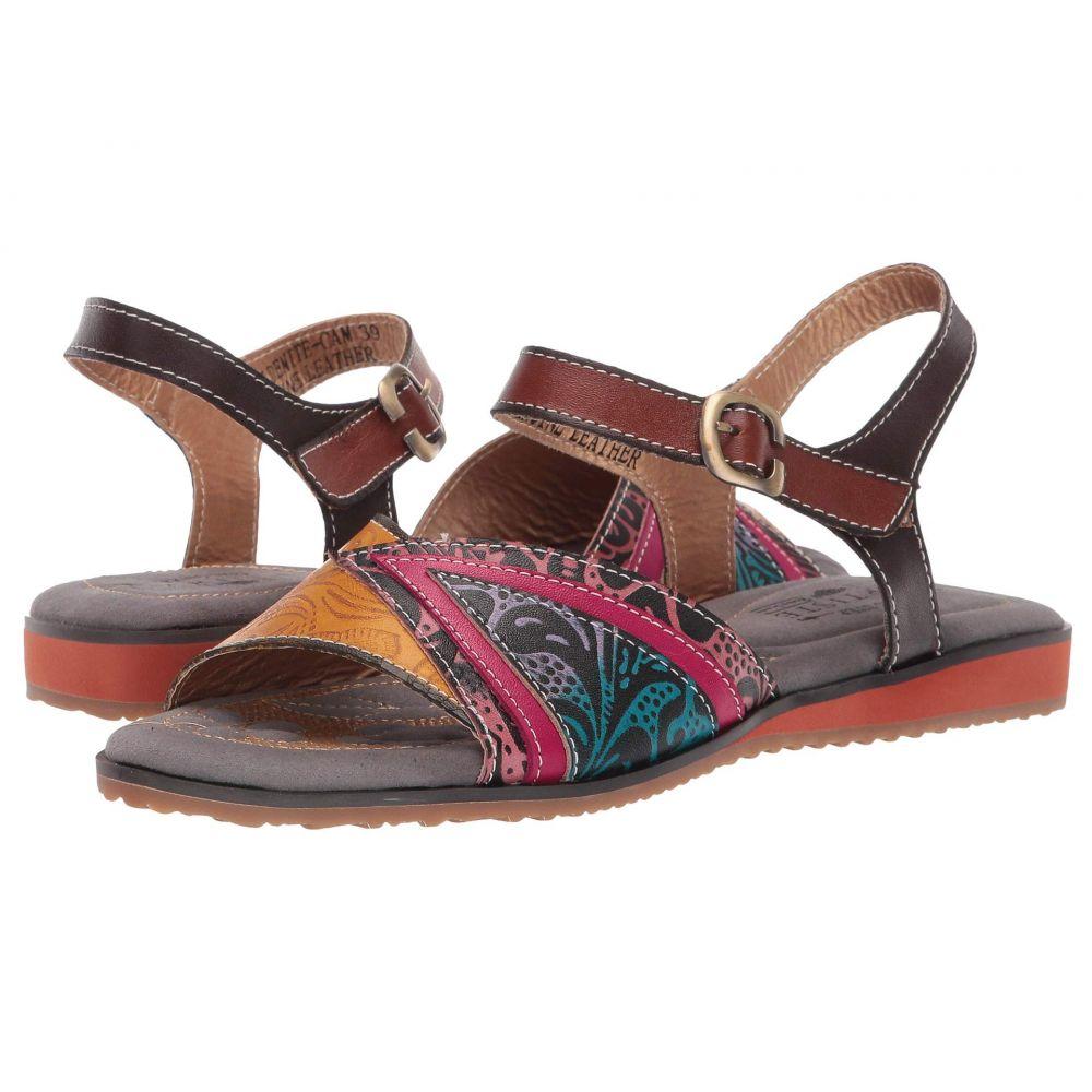 スプリングステップ L'Artiste by Spring Step レディース サンダル・ミュール シューズ・靴【Goldenite】Camel Multi