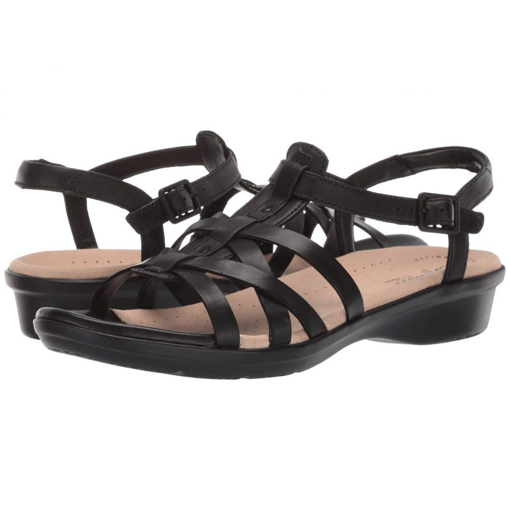 クラークス Clarks レディース サンダル・ミュール シューズ・靴【Loomis Katey】Black Leather