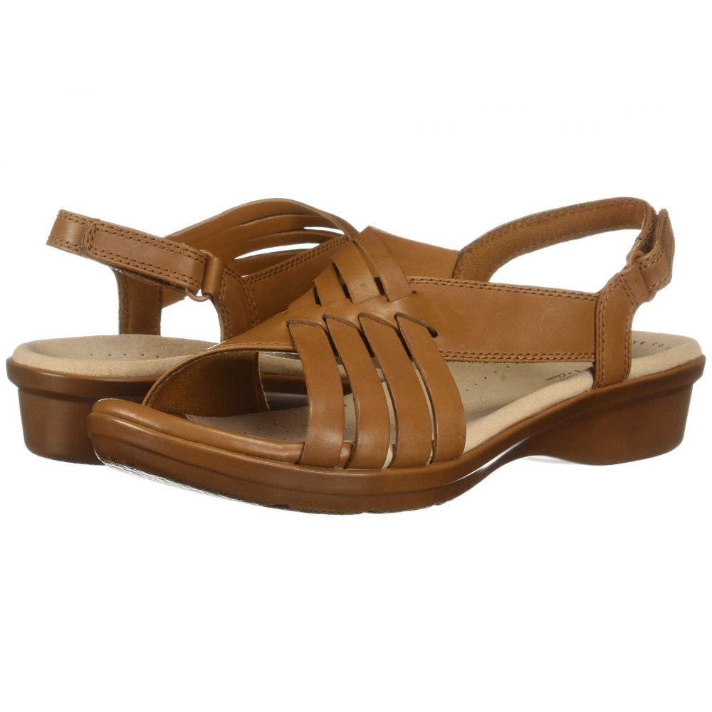 クラークス Clarks レディース サンダル・ミュール シューズ・靴【Loomis Cassey】Tan Leather