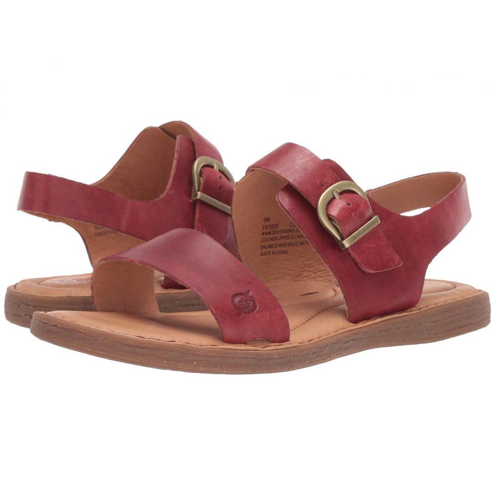 ボーン Born レディース サンダル・ミュール シューズ・靴【Selway】Red Full Grain Leather