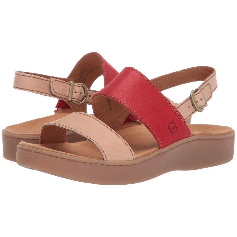 ボーン Born レディース サンダル・ミュール シューズ・靴【Oconee】Taupe/Red Full Grain Leather Combo