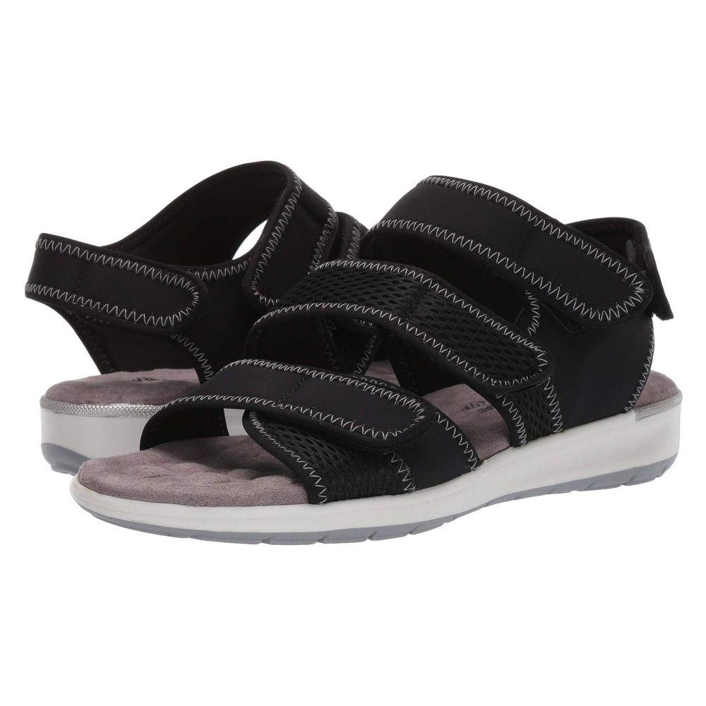 ウォーキング クレードル Walking Cradles レディース サンダル・ミュール シューズ・靴【Sabin】Black Lycra/Mesh