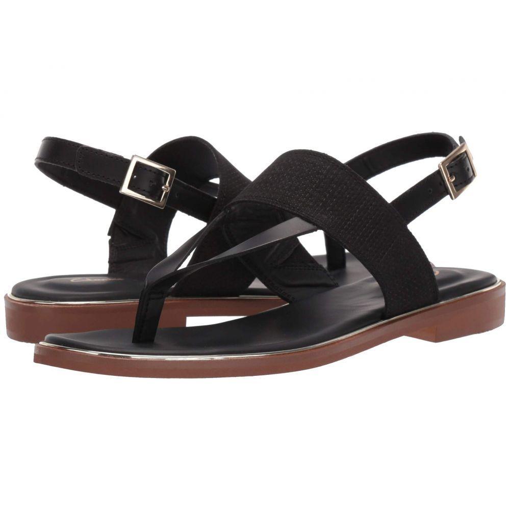 クラークス Clarks レディース サンダル・ミュール シューズ・靴【Ellis Opal】Black Leather