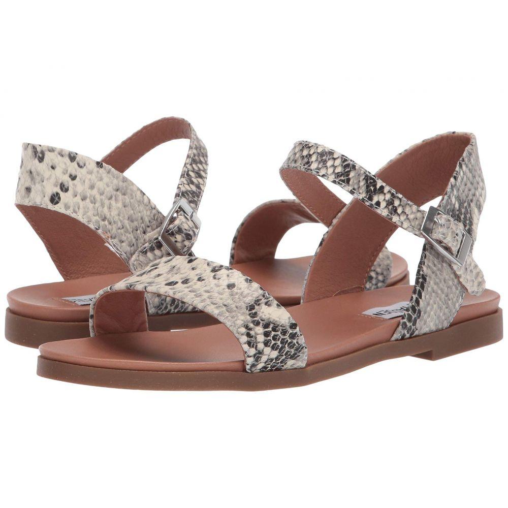 スティーブ マデン Steve Madden レディース サンダル・ミュール フラット シューズ・靴【Dina Flat Sandals】Natural Snake
