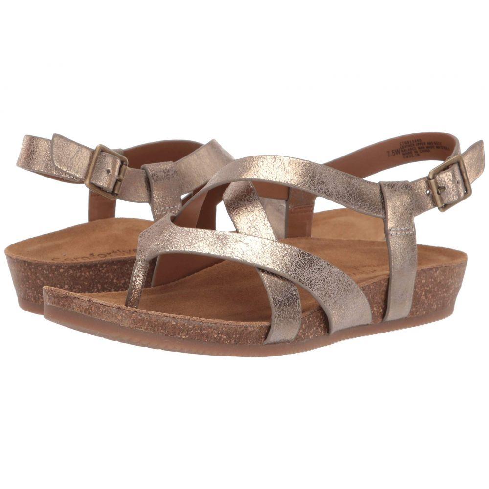 コンフォーティヴァ Comfortiva レディース サンダル・ミュール シューズ・靴【Gamora】Bronze Nuvola Metallic