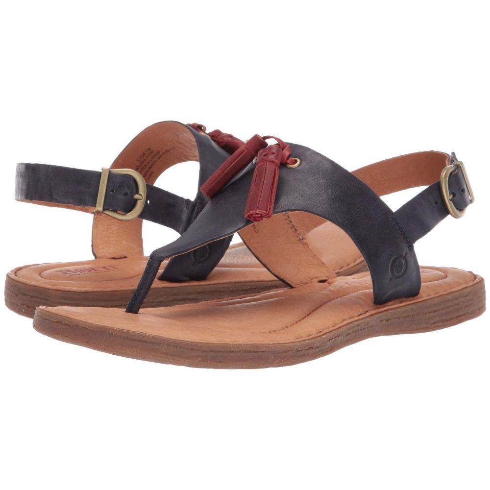 ボーン Born レディース サンダル・ミュール シューズ・靴【St. Joe】Navy Full Grain Leather