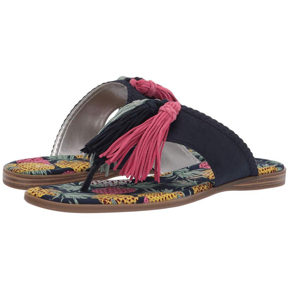 アン クライン Anne Klein レディース サンダル・ミュール シューズ・靴【Adrienna Tassel Sandal】Navy Multi