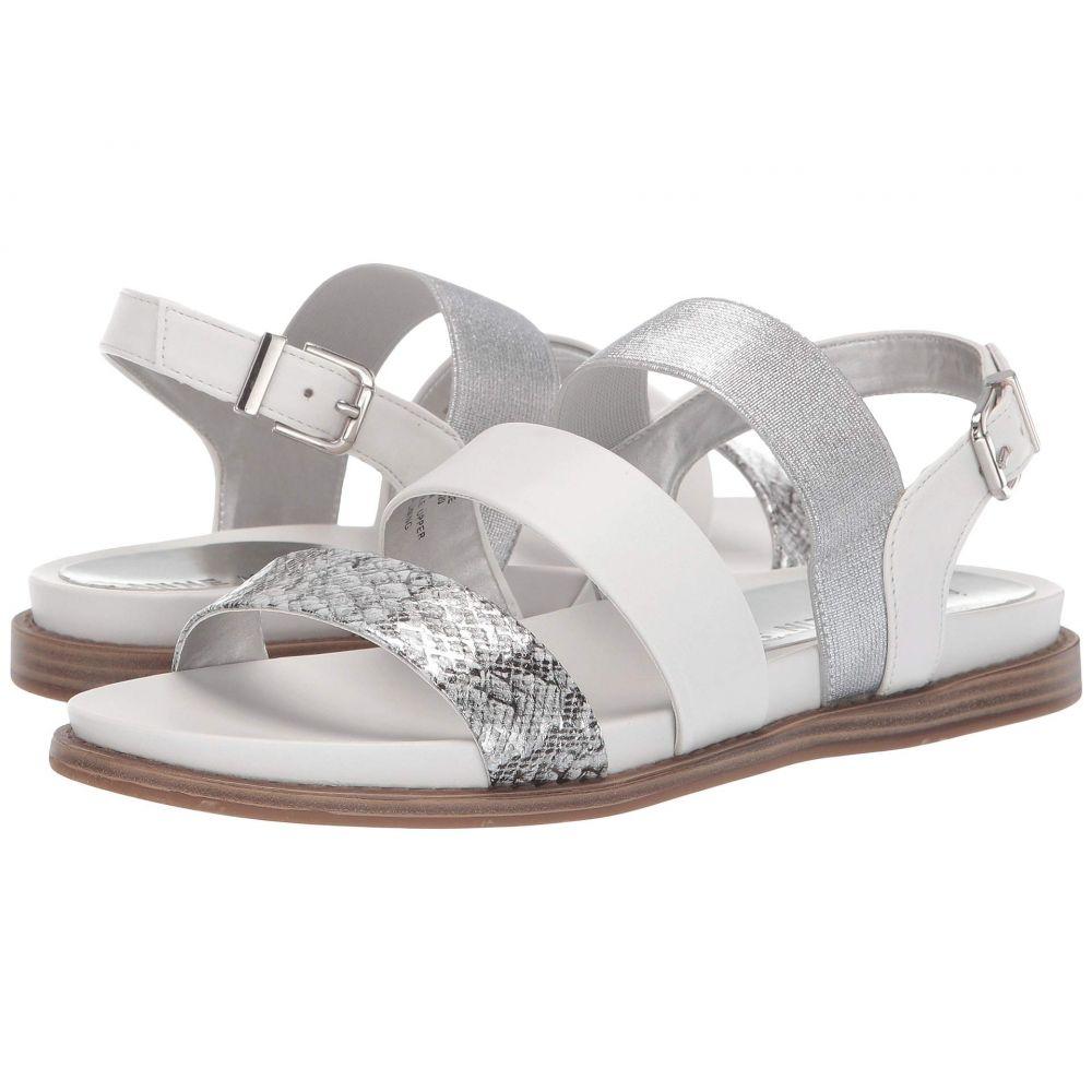 アン クライン Anne Klein レディース サンダル・ミュール フラット シューズ・靴【Essence Flat Sandal】White
