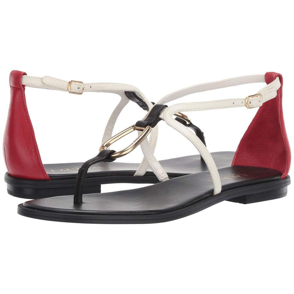 ラルフ ローレン LAUREN Ralph Lauren レディース サンダル・ミュール シューズ・靴【Nanine】Black/Vanilla/Rl Red Super Soft Leather Color Blocked