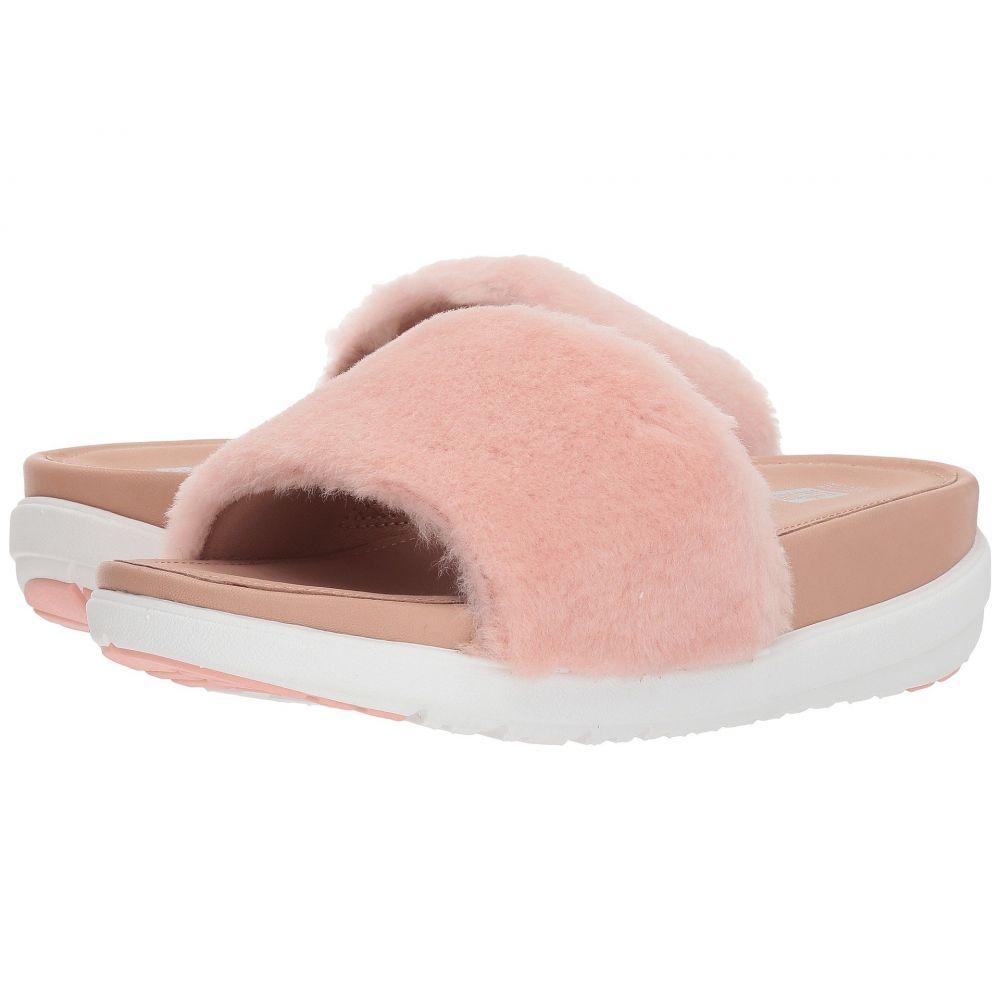 フィットフロップ FitFlop レディース サンダル・ミュール シューズ・靴【Loosh Luxe Slide Sandals】Dusky Pink Shearling