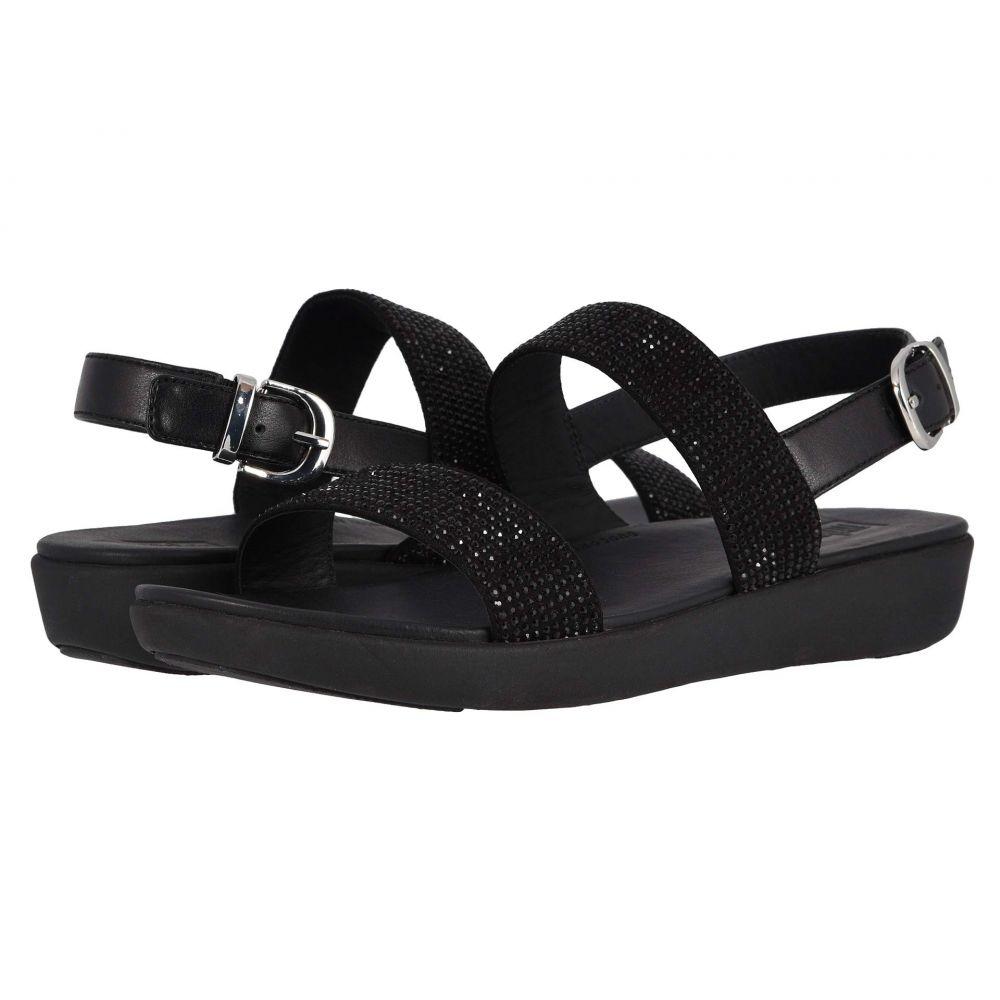 フィットフロップ FitFlop レディース サンダル・ミュール シューズ・靴【Barra Crystalled】Black