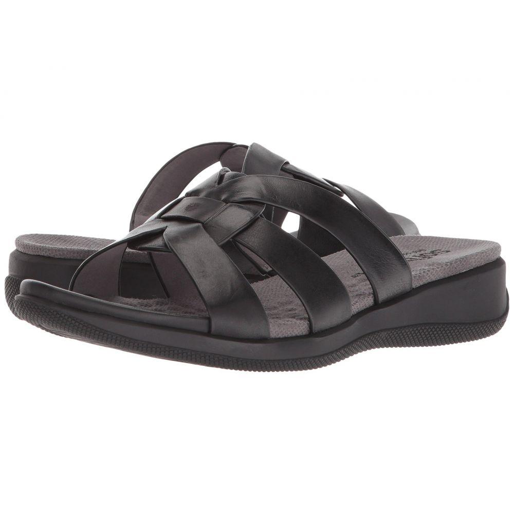 ソフトウォーク SoftWalk レディース サンダル・ミュール シューズ・靴【Thompson】Black Soft Sandal Leather
