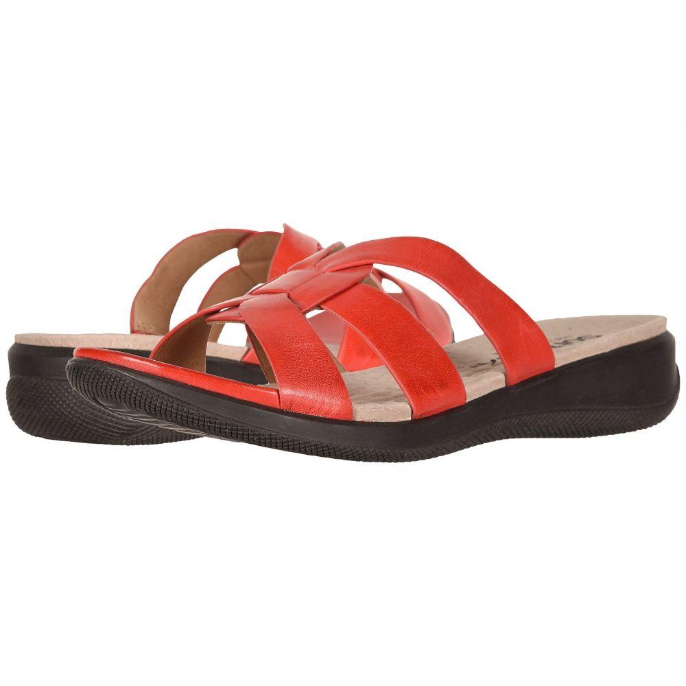 ソフトウォーク SoftWalk レディース サンダル・ミュール シューズ・靴【Thompson】Red Soft Sandal Leather