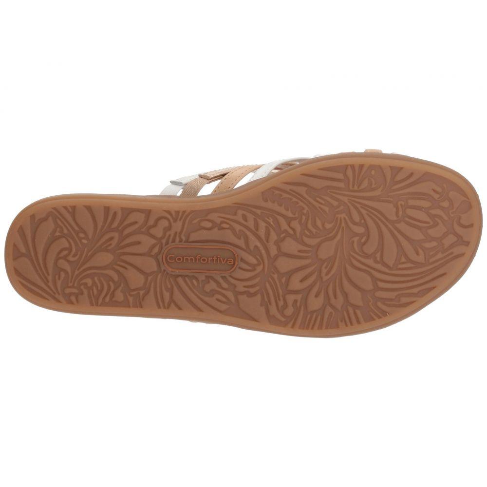 コンフォーティヴァ Comfortiva レディース サンダル・ミュール シューズ・靴 Cayce White MultilFcT1KJ