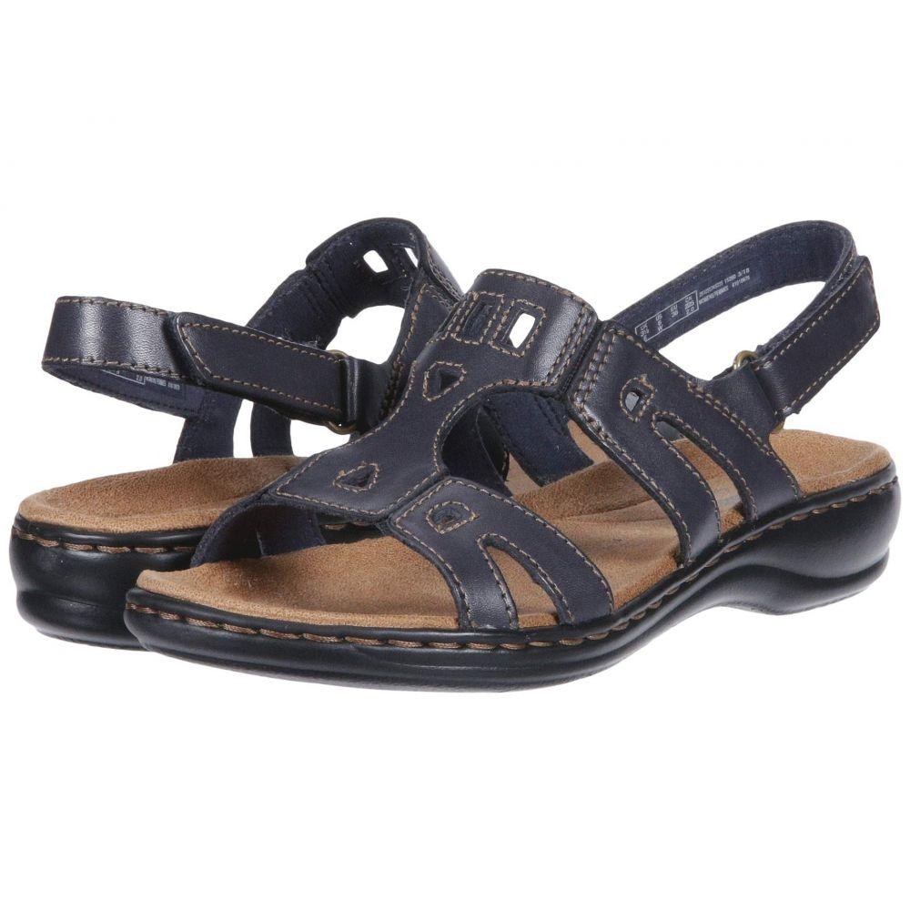 クラークス Clarks レディース サンダル・ミュール シューズ・靴【Leisa Annual】Navy Leather
