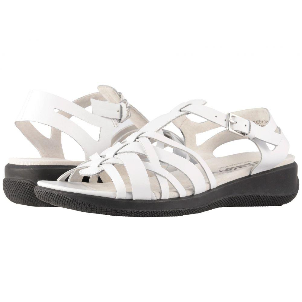 ソフトウォーク SoftWalk レディース サンダル・ミュール シューズ・靴【Taft】White Soft Leather