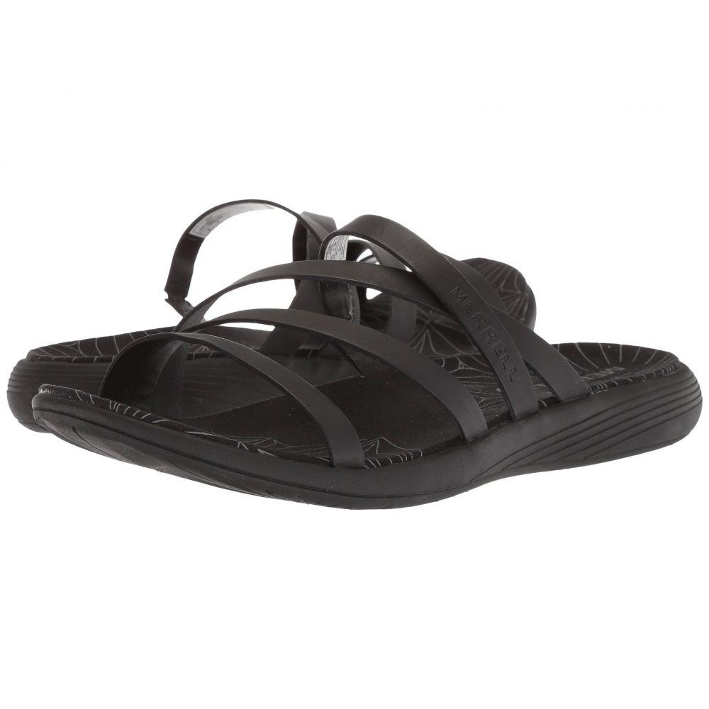 メレル Merrell レディース サンダル・ミュール シューズ・靴【Duskair Seaway Slide Leather】Black