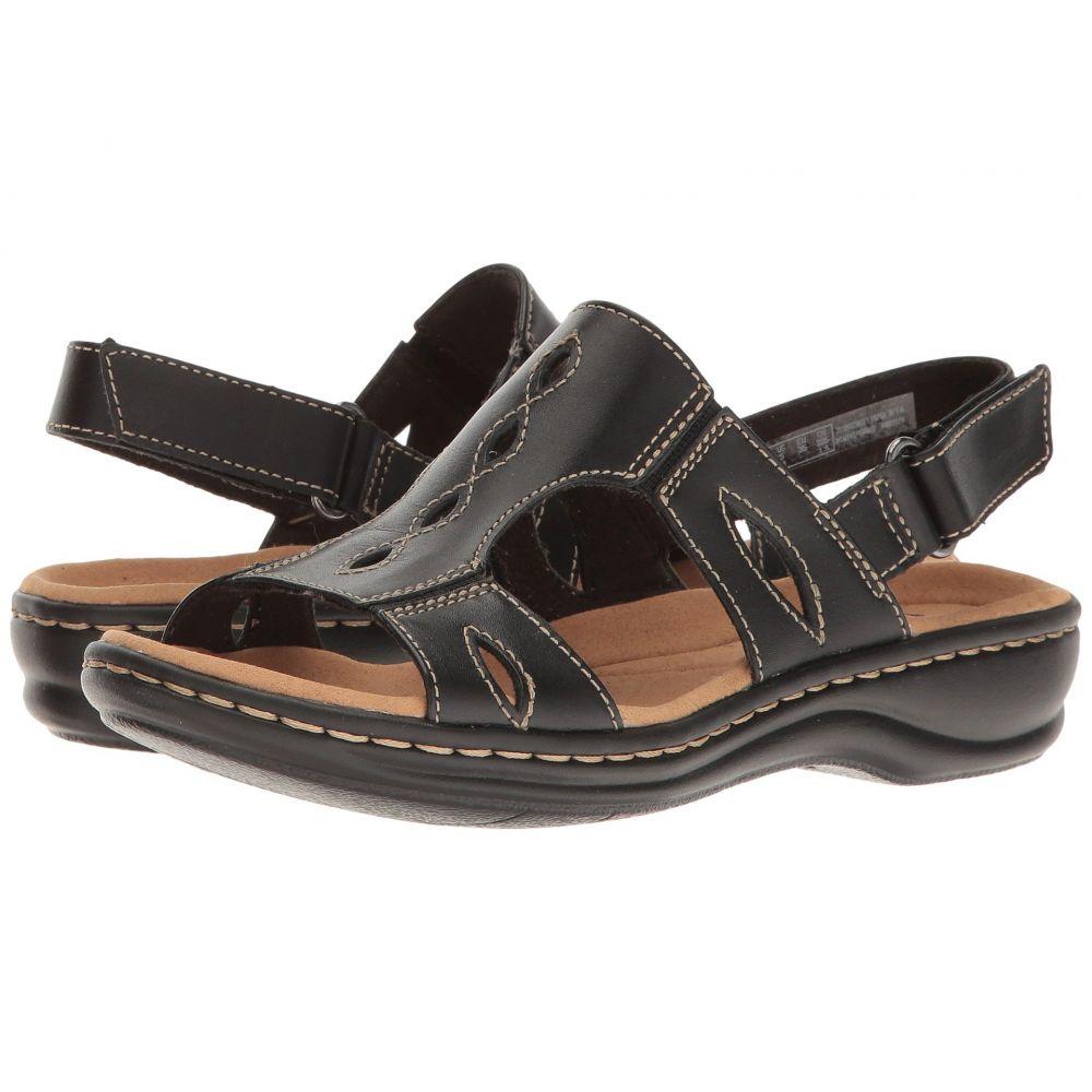 クラークス Clarks レディース サンダル・ミュール シューズ・靴【Leisa Lakelyn】Black Leather