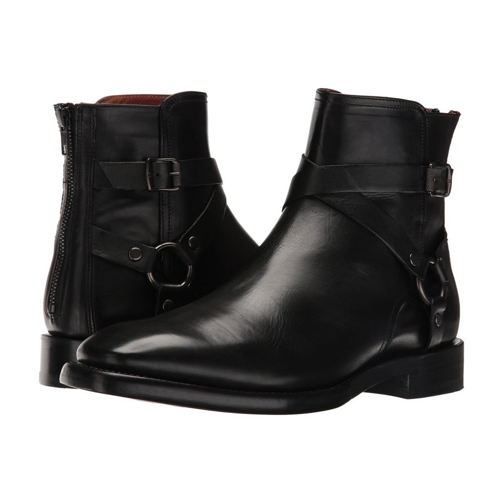 フライ Frye メンズ ブーツ シューズ・靴【Weston Cross Strap】Black Smooth Veg Calf