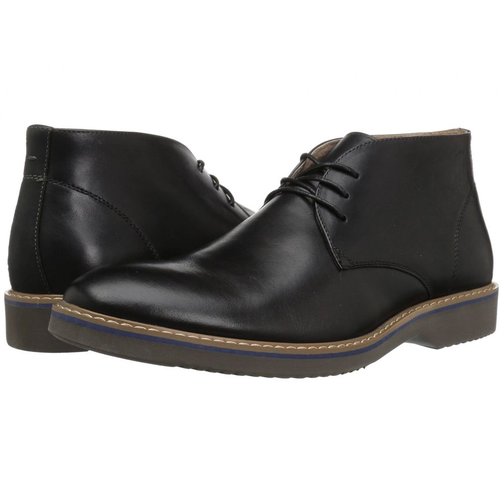 フローシャイム Florsheim メンズ ブーツ チャッカブーツ シューズ・靴【Union Plain Toe Chukka Boot】Black Leather/Crazy Horse/Grey Sole
