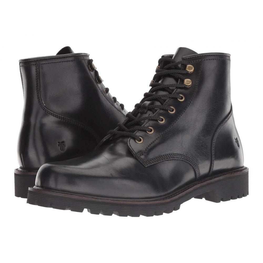 フライ Frye メンズ ブーツ シューズ・靴【Dawson Lug Workboot】Black WP Smooth Pull-Up